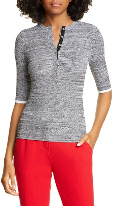 A.L.C. Norris Ribbed Henley Top