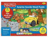 Fisher-Price Little People Safari Sounds Wood Puzzle 7 pcs