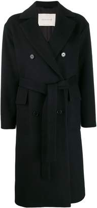 MACKINTOSH LAURENCEKIRK Black Wool & Cashmere Double Breasted Coat | LM-1009F