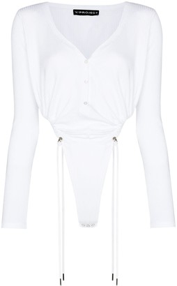 Y/Project V-neck toggle-tie bodysuit