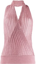 Missoni knitted wrap halter top