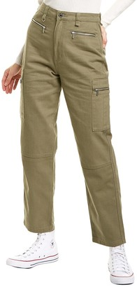 WeWoreWhat Olive Utility Jean