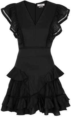 Etoile Isabel Marant Audrey ruffled-trimmed linen mini dress