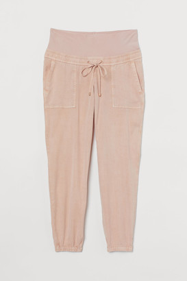 H&M MAMA Lyocell-blend Joggers - Orange