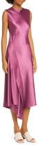 Sies Marjan Vanessa Crinkled Satin Midi Dress