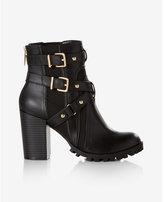 Express heeled combat boot