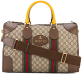 Gucci Monogram Duffle Bag with Webbing - men - Leather - One Size