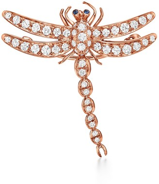 Tiffany & Co. Enchant dragonfly brooch in 18k rose gold with diamonds and sapphires