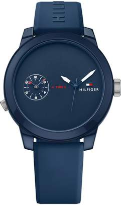 Tommy Hilfiger Blue Chronograph Rubber Strap Watch
