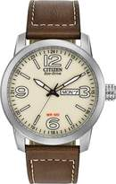 Citizen Men's BM8470-03A Sport Wrist Watch with Brown Band and Dial