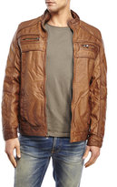 X-Ray Tan Faux Leather Jacket
