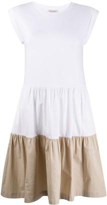 Peserico two-tone sleeveless midi dress