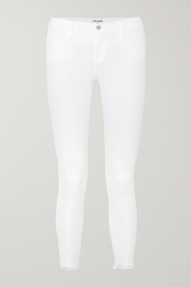 Frame Le Skinny De Jeanne Raw Stagger Mid-rise Jeans - White