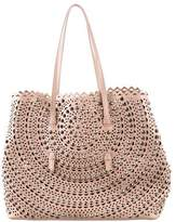Alaia Studded Laser Cut Leather Tote