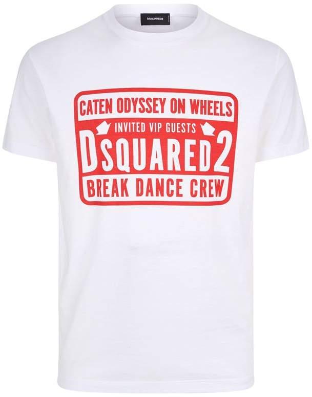DSQUARED2 Break Dance Crew Motif T-Shirt