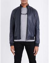 Armani Jeans Leather Bomber Jacket