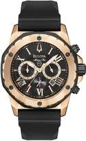 Bulova Marine Star Chronograph Rose Gold Tone Mens Watch