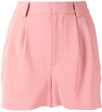 Alice + Olivia Pleat-Front High Rise Shorts