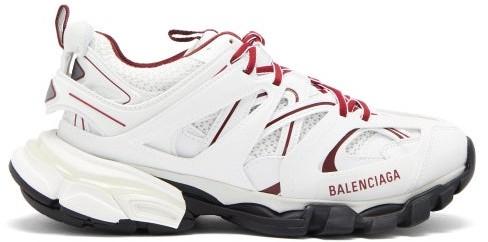Balenciaga Track Panelled Trainers - White Multi