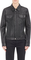 Helmut Lang MEN'S PERFORATED LEATHER JACKET-BLACK SIZE XS