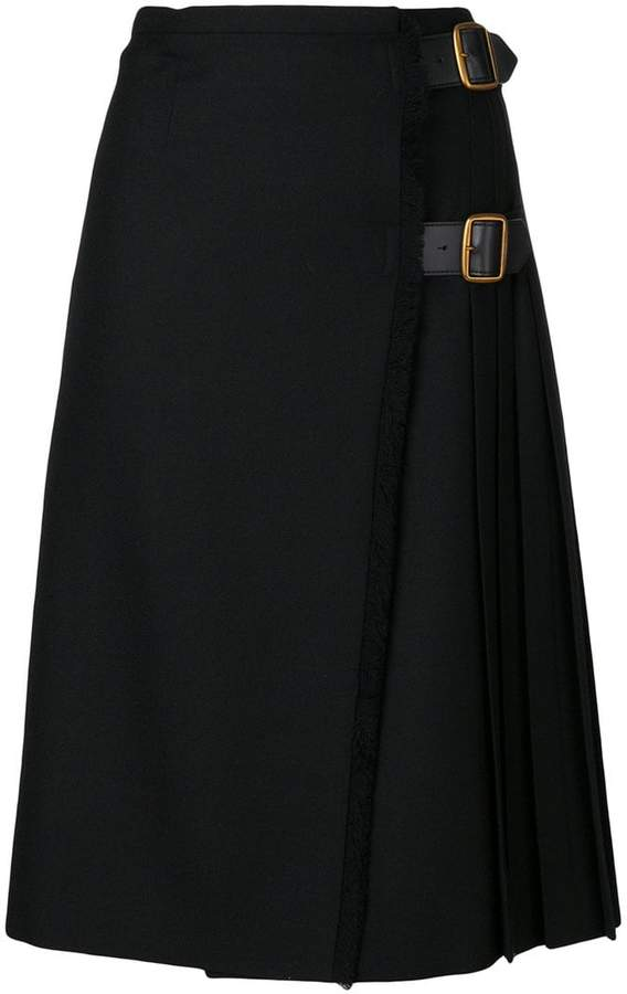 Burberry pleated buckled skirt