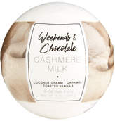 Weekends and Chocolate Large Bath Fizzy - Cashmere Milk, 8 oz / 226 g