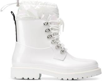 Moncler Galaxite lace-up rain boots