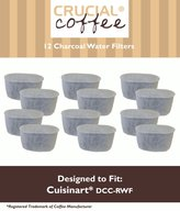 12 Cuisinart DCC-RWF Charcoal Water Filters, Fits All Cuisinart Coffee Makers With Charcoal Water Filtration System, Designed & Engineered by Crucial Coffee