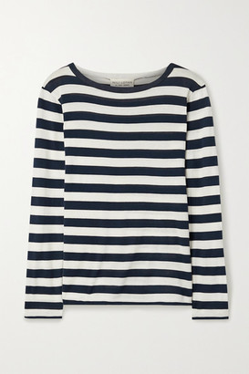 Nili Lotan Striped Cotton-jersey Top - Navy