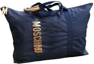 Moschino Blue Cloth Handbags
