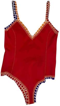 Kiini Red Synthetic Swimwear
