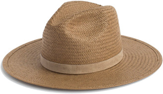 Janessa Leone Adriana Packable Straw Panama Hat
