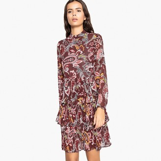 La Redoute Collections Ruffled Floral Paisley Print Dress
