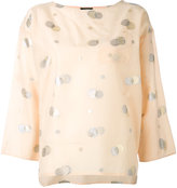 A.P.C. fil coupé top - women - Silk/Cotton/Polyester - 34