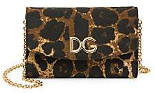 Dolce & Gabbana Women's Micro Leopard-Print Wallet-On-Chain