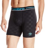 Umbro Men's Performance Stretch Check Boxer Brief