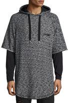 PRPS Mars Space-Dye Short-Sleeve Hoodie, Gray/Black