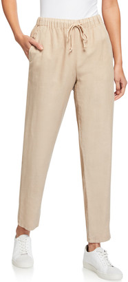 Eileen Fisher Drawstring Waist Tapered Ankle Pants