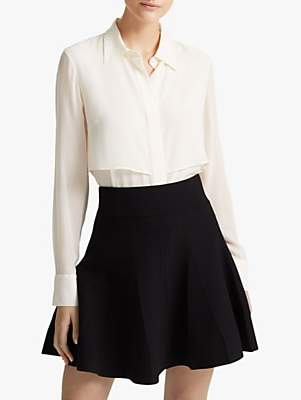 Club Monaco Pleated Mini Skirt, Black