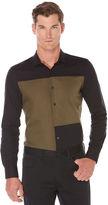 Perry Ellis Slim Fit Colorblock Shirt