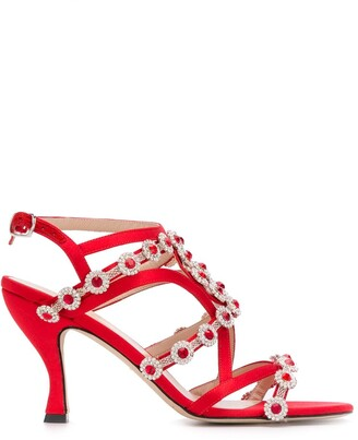 Christopher Kane Crystal Embellished Sandals