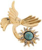 Roberto Cavalli Swarovski Bird & Sun Brass Ring