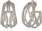 Zina Sterling Silver Wired Wavy Hoop Earrings