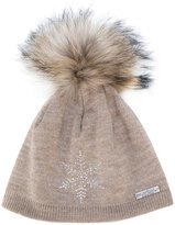 Norton Co. racoon fur pom pom hat