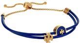 Tory Burch Enamel Logo Slider Bracelet (Tory Gold/Nautical Blue) Bracelet