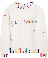 Mira Mikati Don't Worry Tasseled Merino Wool Sweater - Ivory