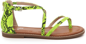 Mix No. 6 Women's Pura Sandals Prints Animal Size 5 Faux Leather From Sole Society