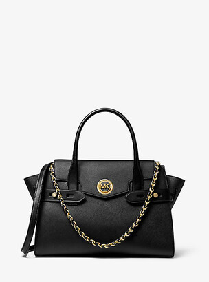 Michael Kors Carmen Large Saffiano Leather Belted Satchel