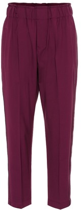 Brunello Cucinelli Stretch wool cropped pants