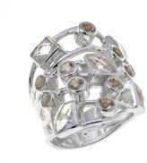 "Deb Guyot Designs 3.4ctw Herkimer ""Diamond"" Quartz Multishape Sterling Silver Ring"